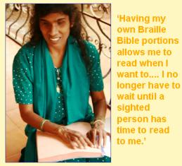 Evangeline saying what Braille means to her