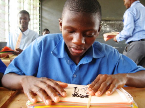 New Braille books for Akropong School for the Blind, Ghana