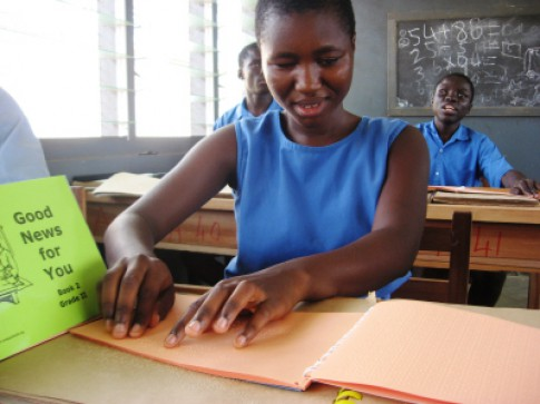 Braille books for everyone at Akropong School for the Blind, Ghana