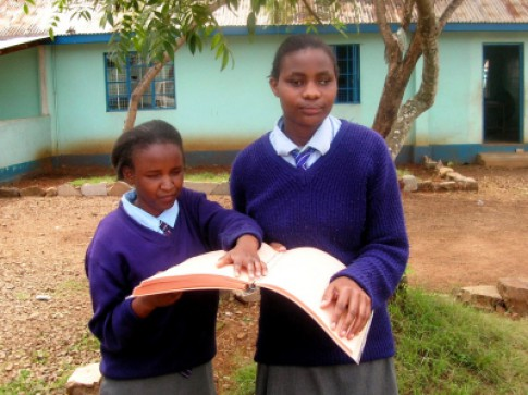 Girls in Kenyan School for the Blind