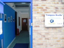 Compass Braille Entrance